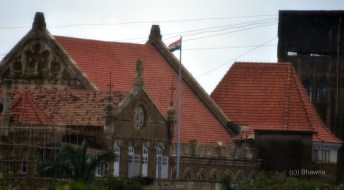Flag on a Heritage Building