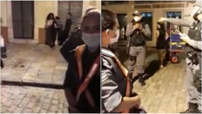 policial militar presa amamentar filho