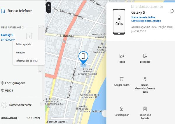 24398b80d3d Localizar meu Celular Samsung roubado. - BH Cidadão