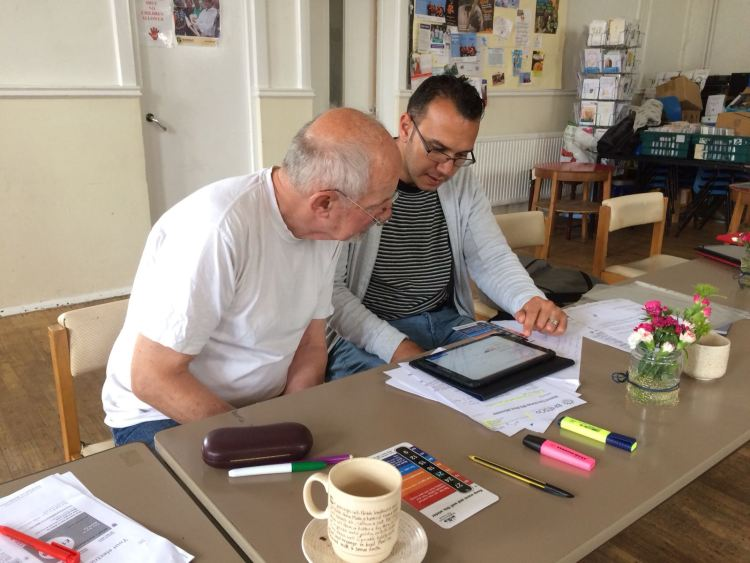 saving money on energy bills at voices in exile workshop