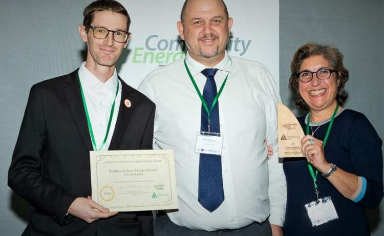BHESCo Community Energy Award WInners - Dan, Kayla, Patrick Allcorn