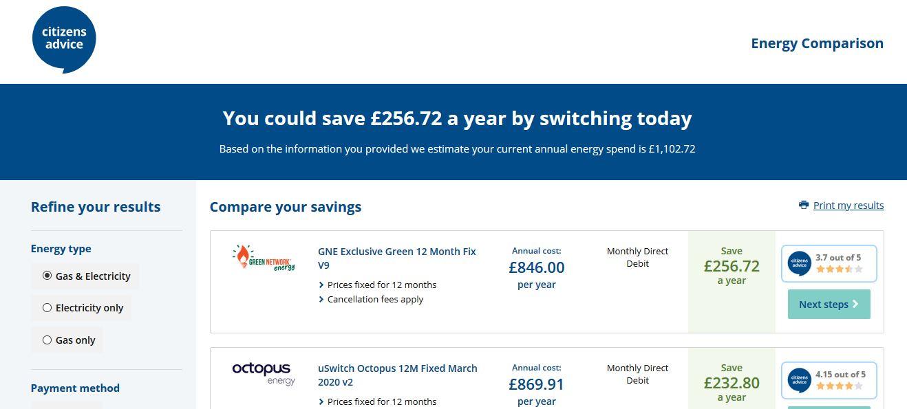 energy bill advice brighton hove