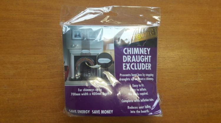6 ways to save energy in your home brighton and hove - chimney draught excluder