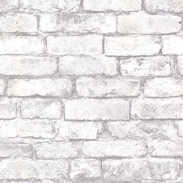 2604 21261 Light Grey Exposed Brick Wallpaper By Beacon House
