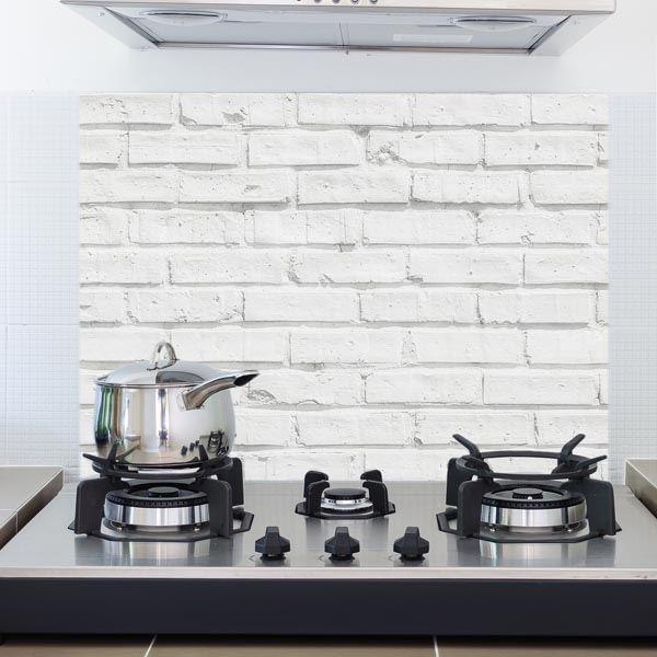 white bricks kitchen panel decal