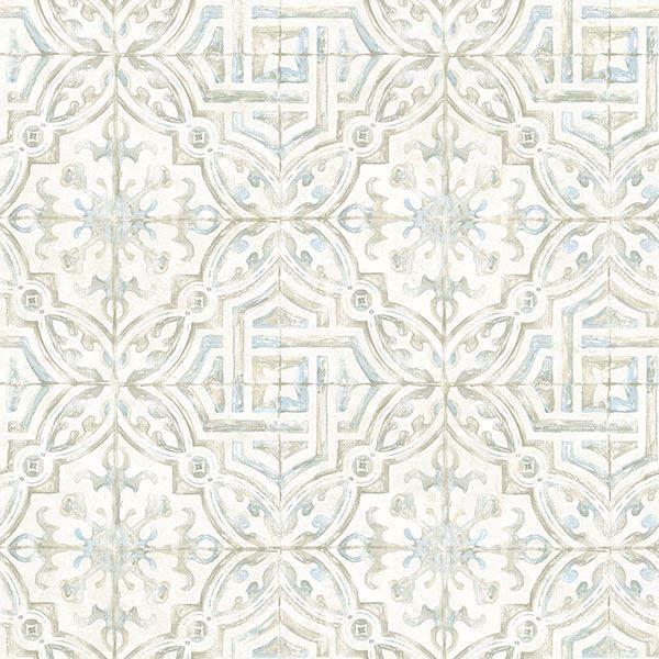 sonoma taupe spanish tile wallpaper