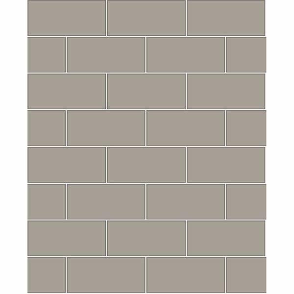 galley dark grey subway tile wallpaper