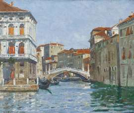 Lot 249 - Will Ashton, Venice, est. $4,000-6,000. Sparkling