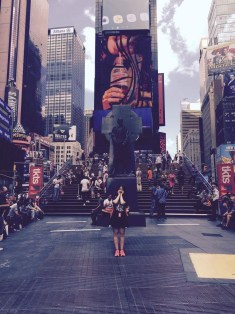 Seoyeong in Times Square (Image courtesy of Seoyeong).