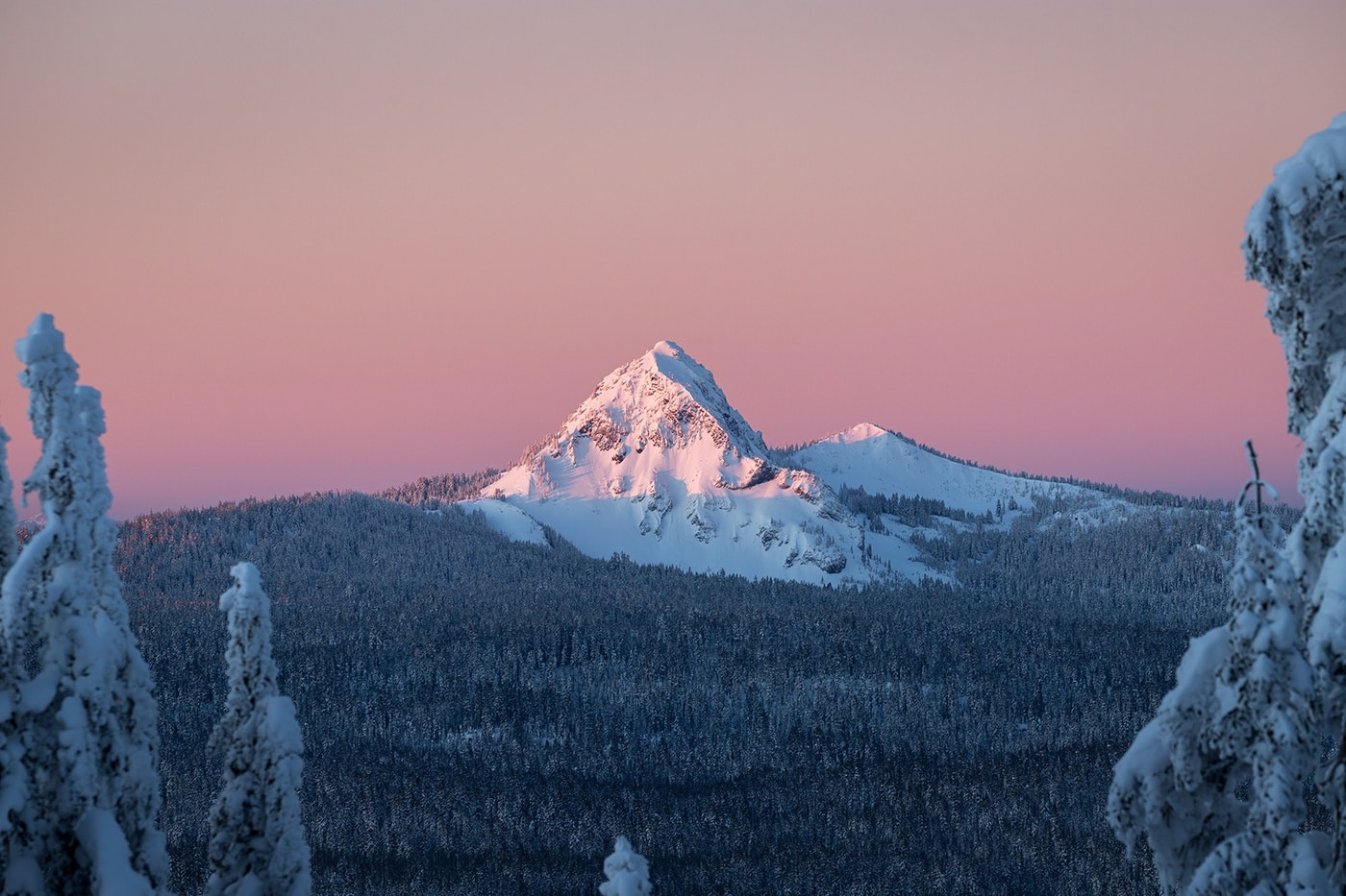 Crater Lake NP Winter by Patrick Mueller