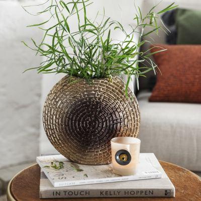 ombre-round-vase