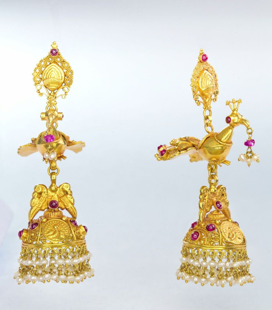 Gold Earring Bhima Jewellers
