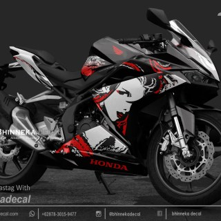 DECAL STIKER CBR 250 RR KABUKI RED KODE 015