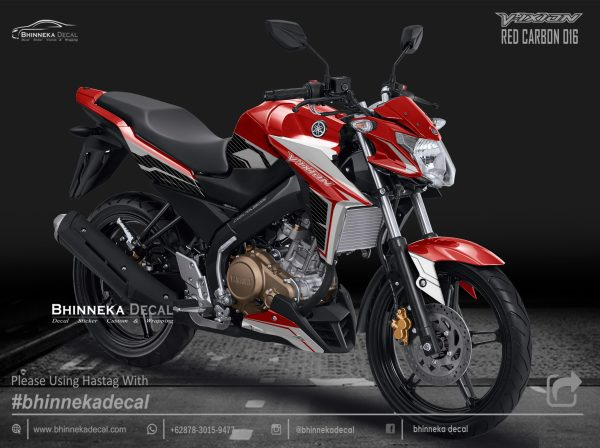 DECAL STICKER VIXION NVA RED CARBON SPORT-013