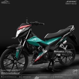DECAL STICKER HONDA SONIC DESAIN GREEN PETRONA-015