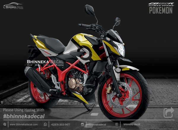 DECAL STICKER CB 150 R DESAIN YELLOW POKEMON-003