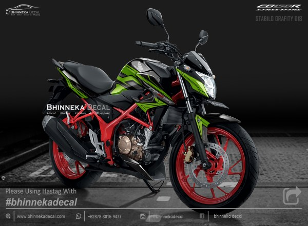 DECAL STICKER CB 150 R GRAFIS STABILO GRAFITY-012