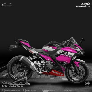 DECAL STICKER NINJA FI ALL NEW DESAIN PINK MOTOCARD-005
