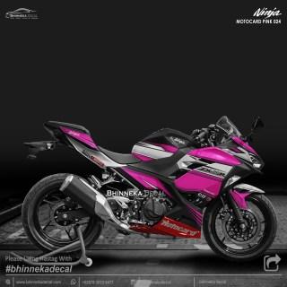 DECAL STICKER NINJA FI ALL NEW DESAIN PINK MOTOCARD-005