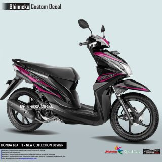 DECAL STICKER HONDA BEAT FI DESAIN PINK BREMBO-013