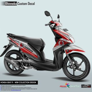 DECAL STICKER HONDA BEAT FI DESAIN VODAFONE-020