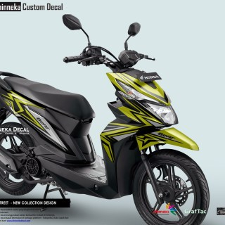 DECAL STICKER BEAT STREET DESAIN YELLOW GRAFIS-022
