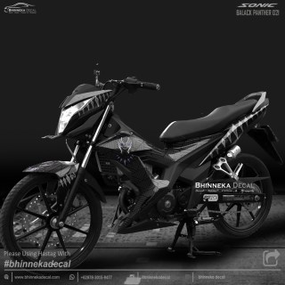 DECAL STICKER HONDA SONIC DESAIN BLACK PANTHER-016