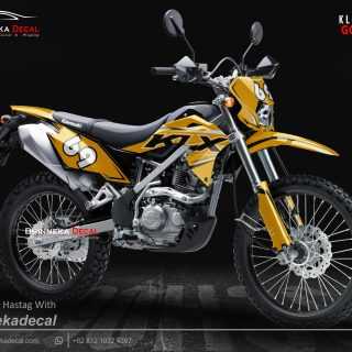 DECAL STICKER KLX BF DESAIN GOLD-012