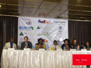 The panel representing JA Zimbabawe, JA Worldwide, JA Africa, Students and the sponsors