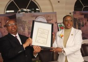 Mudenda Launches the Ninth Parliament of Zimbabwe Institutional Strategic Plan