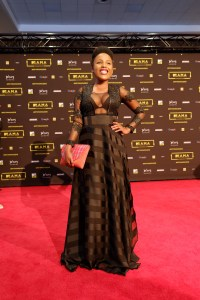 The actress Pretty Ncayiyana at the red carpet during the MAMA 2016, in Johannesburg, South Africa on October 22nd, 2016
