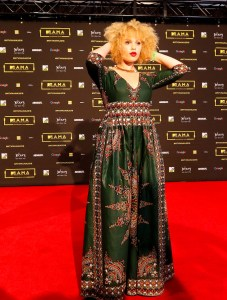 The artist Patty Manroe at the red carpet during the MAMA 2016, in Johannesburg, South Africa on October 22nd, 2016