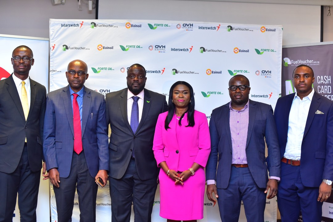 L-R: Babafemi Olabiyi, Head of Sales at OVH Energy Marketing; Kenneth Ndabai, Executive Director Operations at RainOil; Tunde Pratt, Head of Supply, Trading and Depot Operations at Forte Oil; Chinyere Don-Okhuofu, Divisional CEO of Interswitch Industry Vertical Markets; Chimezie Emewulu, CEO, Seamfix/EVSL and Chibuzor Onwurah, Co-founder Seamfix/EVSL