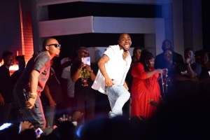 OLAMIDE AND DAVIDO PERFORMING ON STAGE