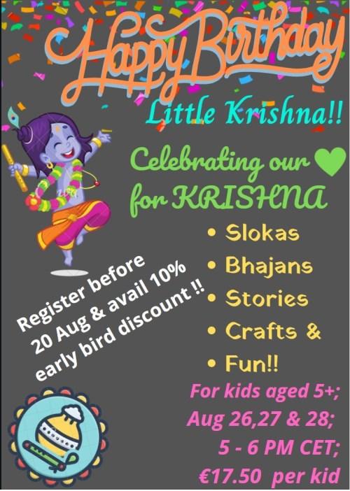 Flyer for Happy Birthday Little Krishna
