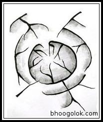 অঙ্গুরীয়াকার জলনির্গম প্রণালী (Annular Drainage Pattern)