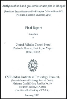 Indian Institute Toxicology Report