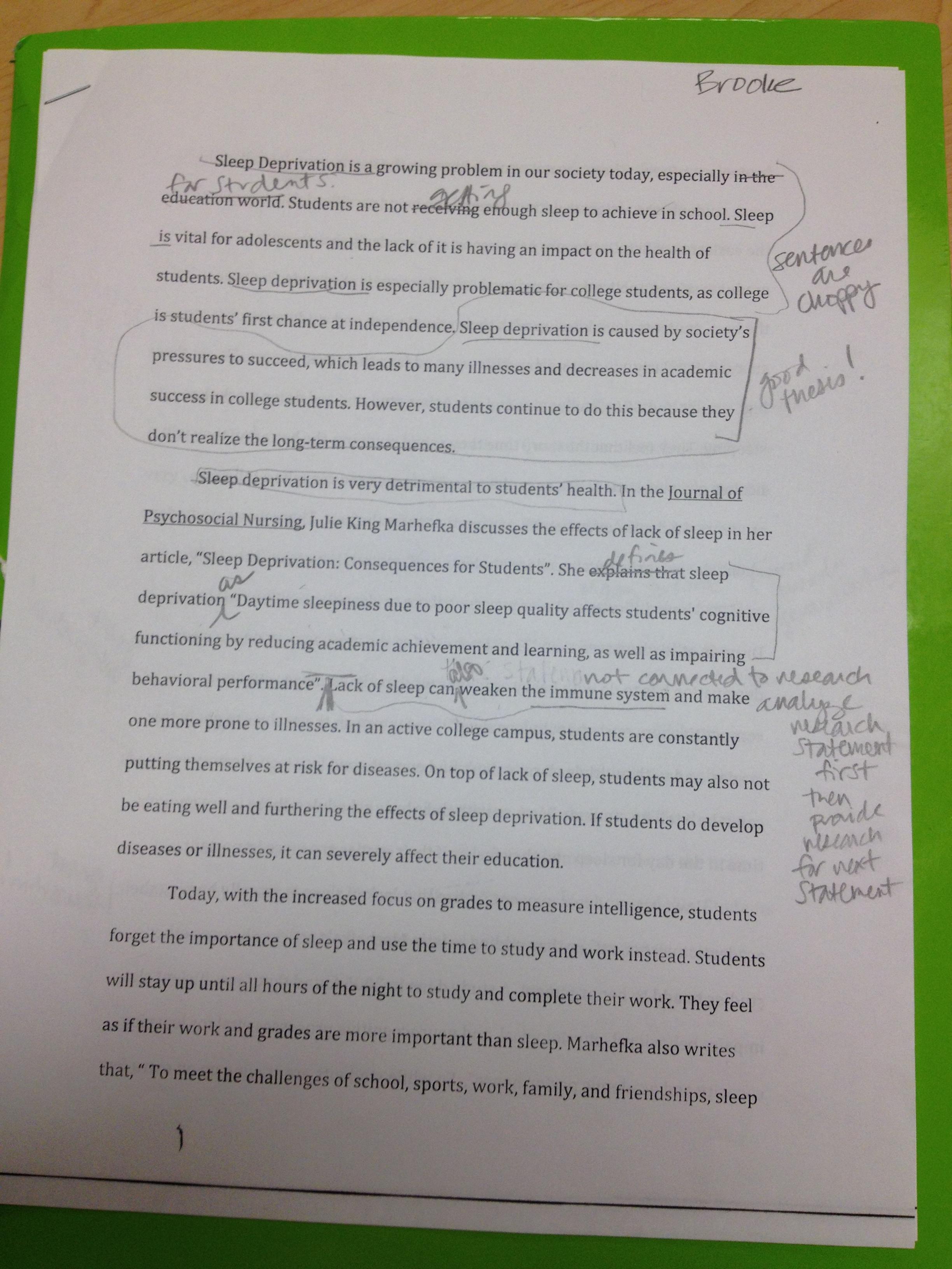 Importance Of Sleep Essay The Importance Of Sleep Essay