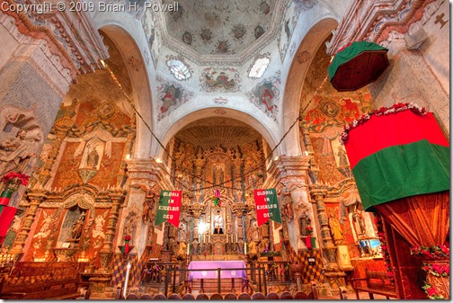 Interior of San Xavier del Bac Mission