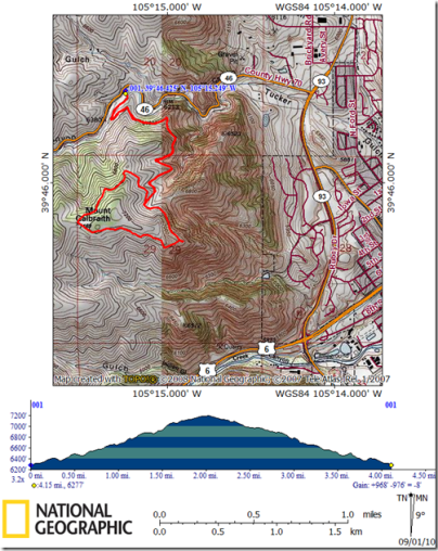 Mt Galbraith Topo Map