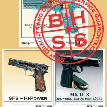 "Browning Hi-Power High-Resolution Prints 11""x14"" Pack"