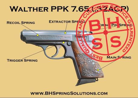 Walther PPK 7.65 (.32 ACP)  Reliability Spring Kit