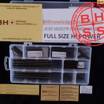 BHGunsmtihSolutions Hi-Power Optimizing Spring Set