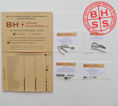 Basic Complete Spring Kit for CZ75/B/BD and clones