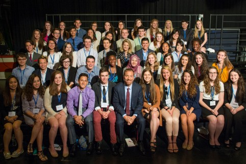 Me and my fellow scholars pose for a photo with Chuck Todd after observing a live broadcast of Meet the Press at NBC Studios. | Photo: Courtesy Newseum Institute