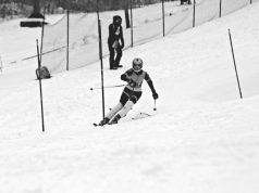 BHS junior and alpine ski team captain Marley Tipper heads down the slope during a race at Cochran's Ski Area in Richmond last season. | Photo: Courtesy