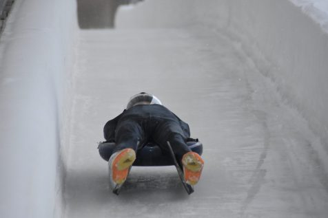 Burlington High School freshman Eamonn Bottger heads down the track during a training luge run in Lake Placid, N.Y. Bottger is currently on the national development team and hopes to make it to the Olympics. | Photo Courtesy: Eamonn Bottger