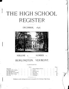 The front page of the original Vol. 1, No. 1 edition of the Register, published in December 1898.