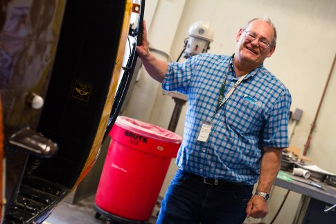 Rick Sylvester has been teaching the Burlington Technical Center aviation technology program for the last 27 years. He will be retiring this June. | Photo: Jake Bucci/Register