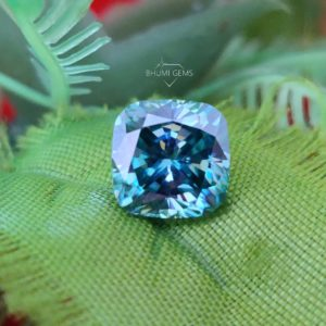 1CT-10CT Dark Blue Cushion Cut VVS1 Moissanite Loose Diamond | Loose Moissanite | Gemstone | For Jewelry Making Ring, Earring, Pendant
